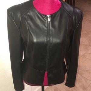 Zara Basic Faux Leather Jacket
